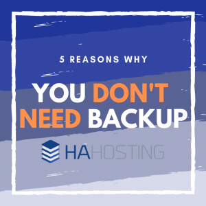5 Reasons you don't need backup thumnail