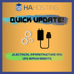 Quick Update Electrical Infrastructure and UPS Improvements