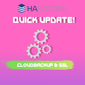 Quick Update: Cloudbackup and SSL