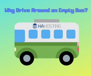 why drive around an empty bus?