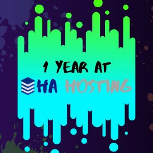 1 year at ha hosting