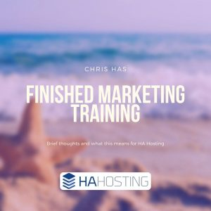 Chris Finished Marketing Training