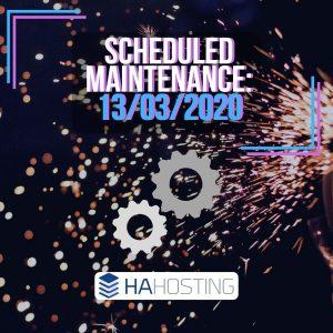 Scheduled maintenance 13/03/2020