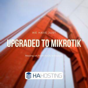 Upgrade to Mikrotik