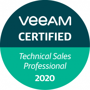 Veeam Certifcation - Technical Sales Professionals