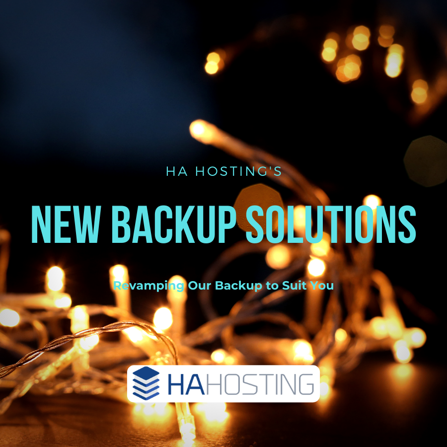 HA Hosting New Cloud Backup Solutions