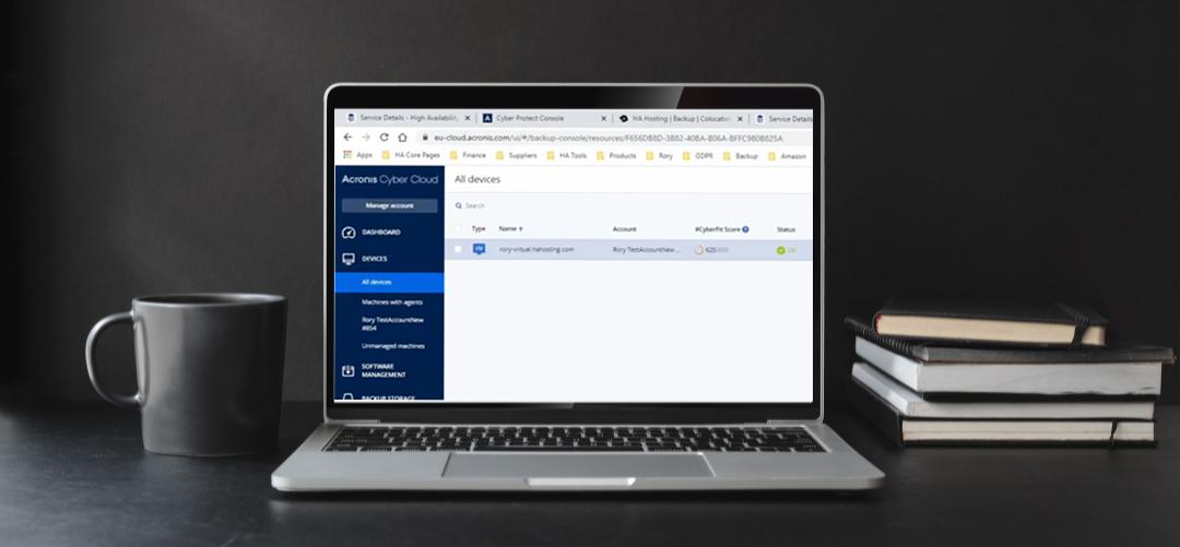 laptop using Acronis backup